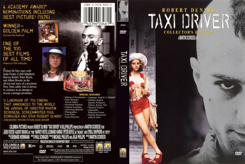 Taxi Driver - Movie DVD Scanned Covers - 8281Taxi Driver ...