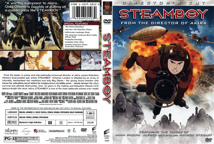Steamboy R1 Cover Movie Dvd Scanned Covers