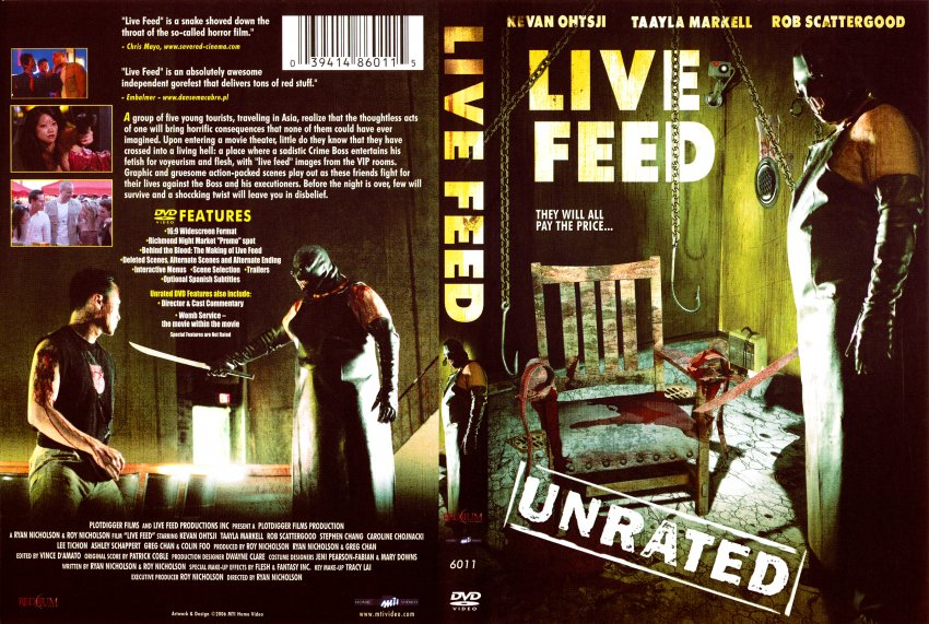 Live Feed (unrated) - Movie DVD Scanned Covers - 8822Live Feed :: DVD Covers