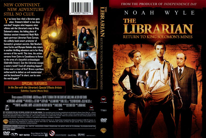 the librarian return to king solomons mines 2006 tv tv