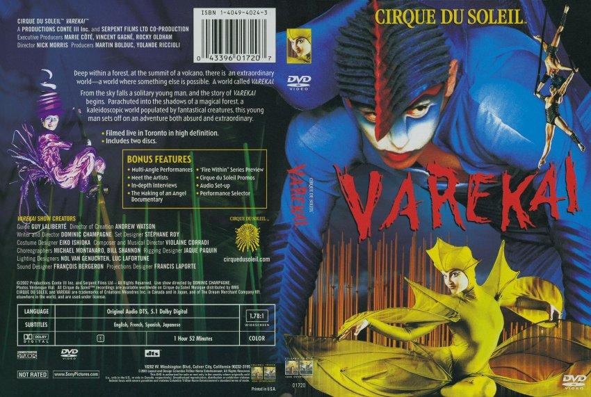dvd cirque du soleil varekai