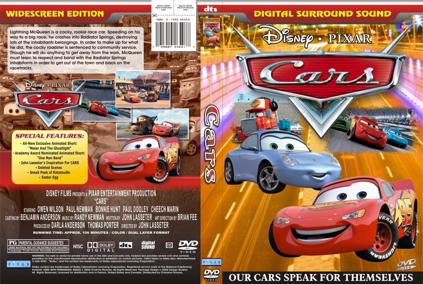Cars Movie Dvd Scanned Covers 9011cars Dvd Covers