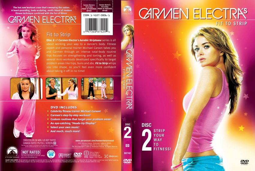 Carmen electra strip to fitness