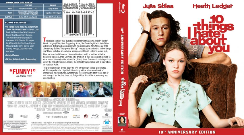 Analysing Feature Films 10 Things I Hate: Movie Blu-Ray Scanned Covers