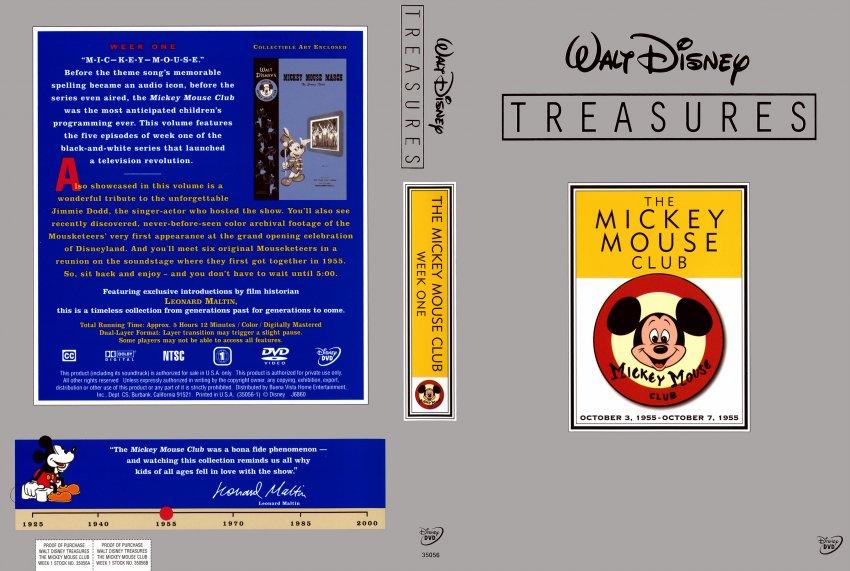 the mickey mouse club walt disney treasures movie dvd