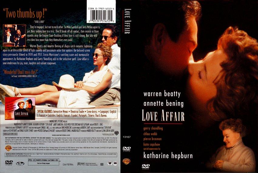 Love Affair Book Cover ~ Love affair movie dvd scanned covers