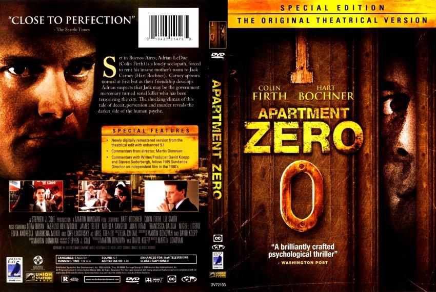 apartment zero movie dvd scanned covers apartment zero