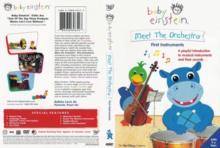 baby einstein meet the orchestra dvd opening kronks