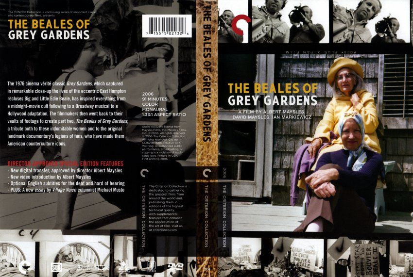 The Beales Of Grey Gardens Movie Dvd Scanned Covers