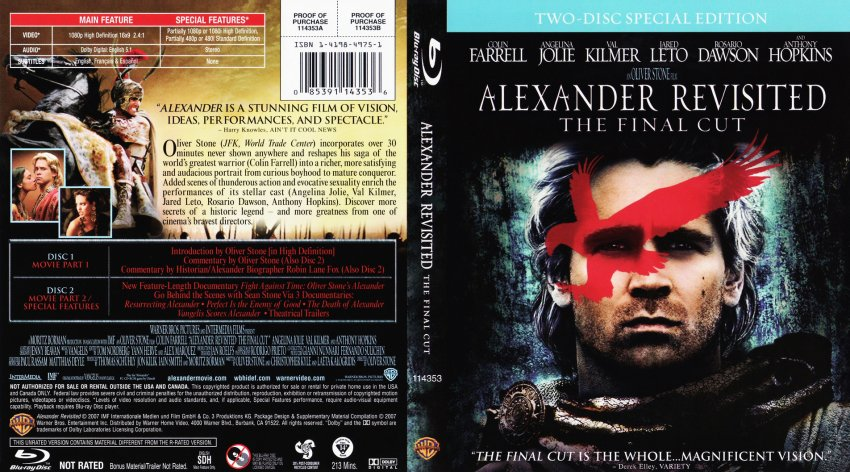 alexander revisited the final cut movie bluray scanned