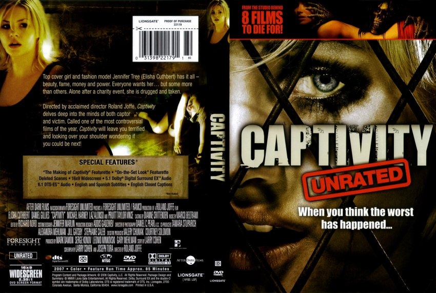 Captivity - Movie DVD Scanned Covers - CAPTIVITY :: DVD Covers