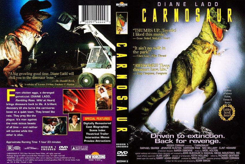 Carnosaur 1 - Movie DVD Scanned Covers - Carnosaur 1 - English f ...
