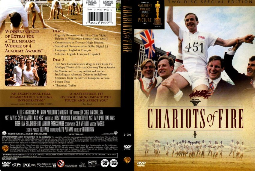 Chariots Of Fire - Movie DVD Scanned Covers - Chariots Of ...