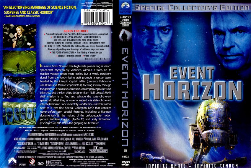 Event Horizon Special Collectors Editon R1 Cover Movie Dvd Scanned