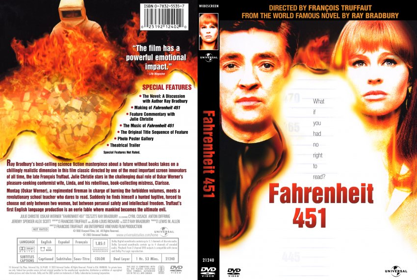 an analysis of symbolism of fahrenheit 451 by ray bradbury as a futuristic novel Analysis of the key concepts of the film fahrenheit 9/11 by michael moore   essay symbolism of the pheonix in fahrenheit 451  fahrenheit 451, by ray  bradbury is a futuristic novel, taking the reader to a time where books and  thinking are.