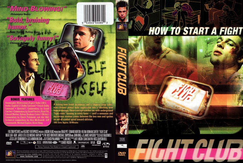 fight club dvd  Fight Club - Movie DVD Scanned Covers - FightClub1 :: DVD Covers