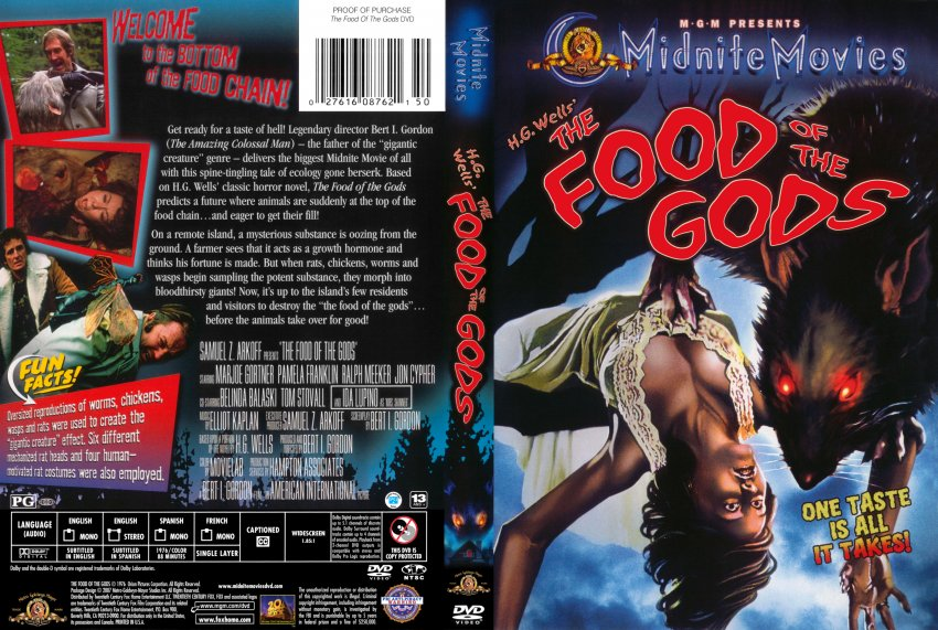 The Food Of The Gods Movie Dvd Scanned Covers Foodofthegods