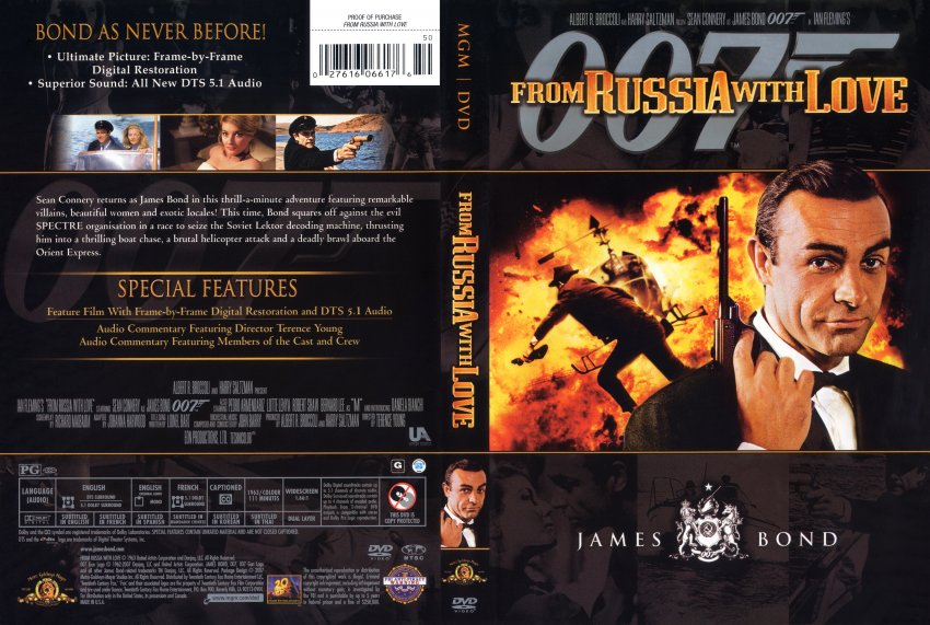 Russia With Love - Movie DVD Scanned Covers - From Russia With Love ...