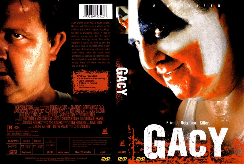 Gacy - Movie DVD Scanned Covers - Gacy Cover :: DVD Covers