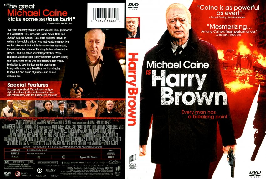 harry brown movie dvd scanned covers harry brown english f