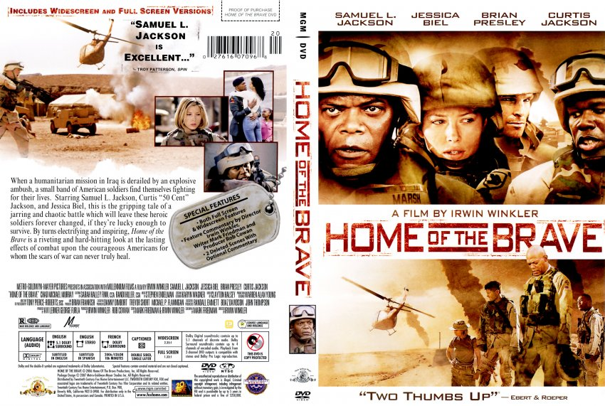 Home of the Brave - Movie DVD Scanned Covers - Home of the Brave