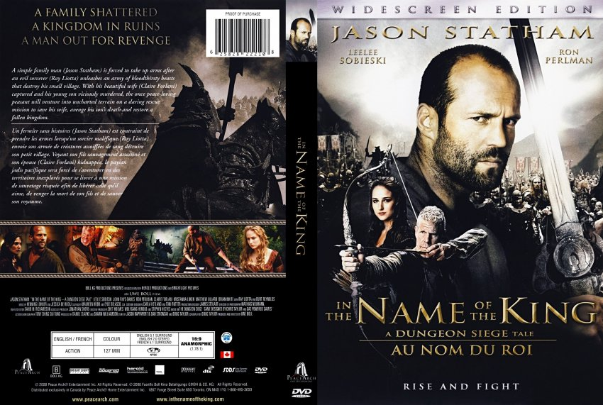 In The Name Of The King - Movie DVD Scanned Covers - IN ...