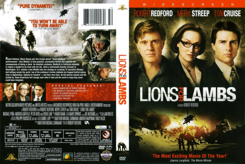 lions for lambs movie dvd scanned covers lions for