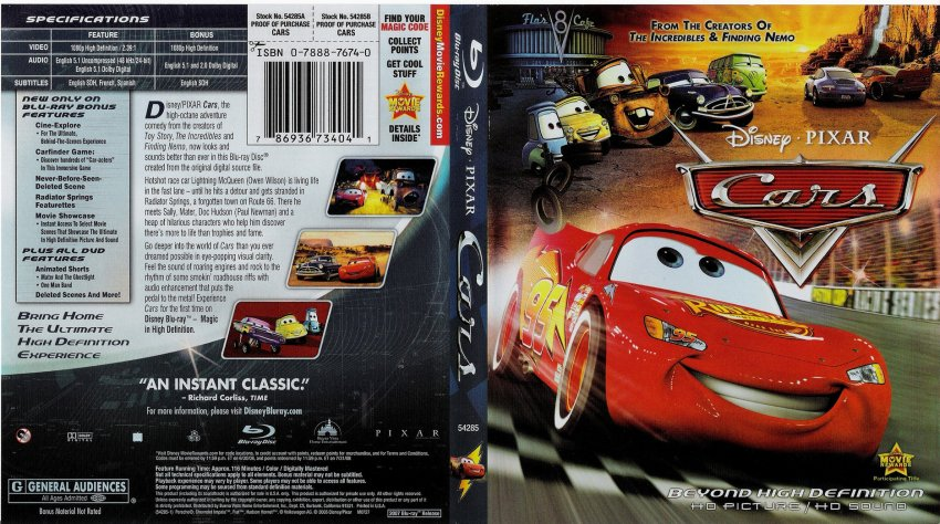 cars movie blu ray scanned covers cars bluray f dvd. Black Bedroom Furniture Sets. Home Design Ideas