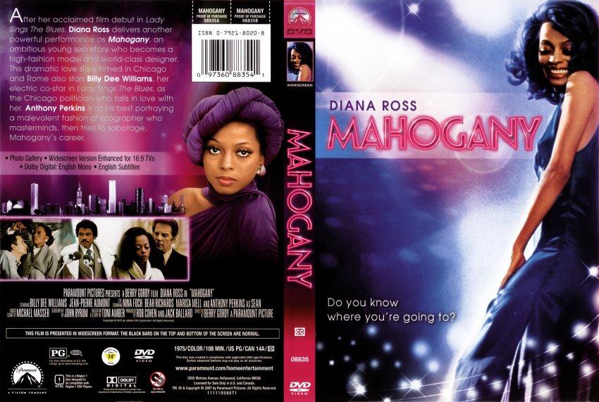 Mahogany - Movie DVD Scanned Covers - Mahogany Cover ...