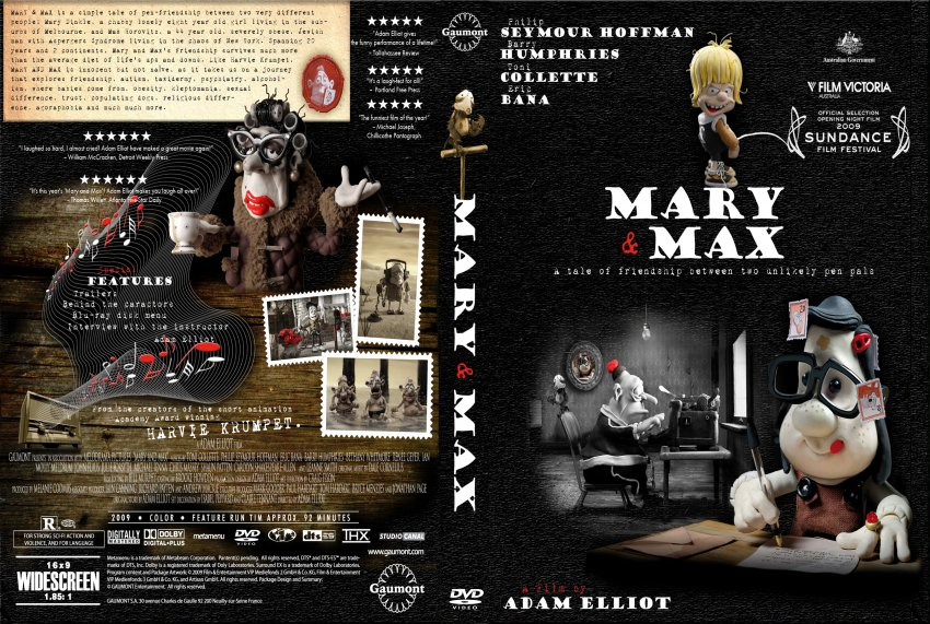 Mary And Max Movie Dvd Scanned Covers Maryandmax Jpg Dvd Covers