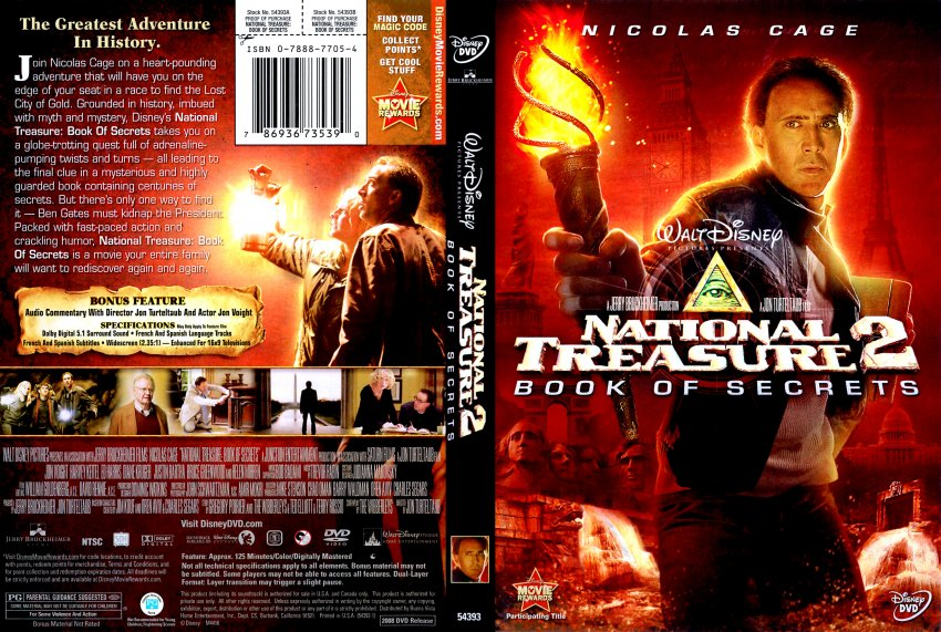 National Treasure 2 Book of Secrets - Movie DVD Scanned ...