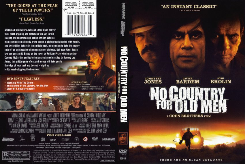 no country for old men analysis essay Below is an essay on no country for old men from anti essays, your source for research papers, essays, and term paper examples no country for old men cormac mccarthy tells a story about a man who is running from an assassin, but realizes that his life is already set and all the choices he has made has lead him and his wife to being murdered.