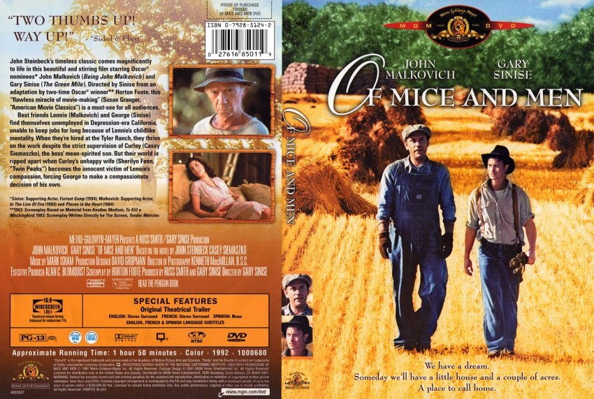 of mice and men book movie