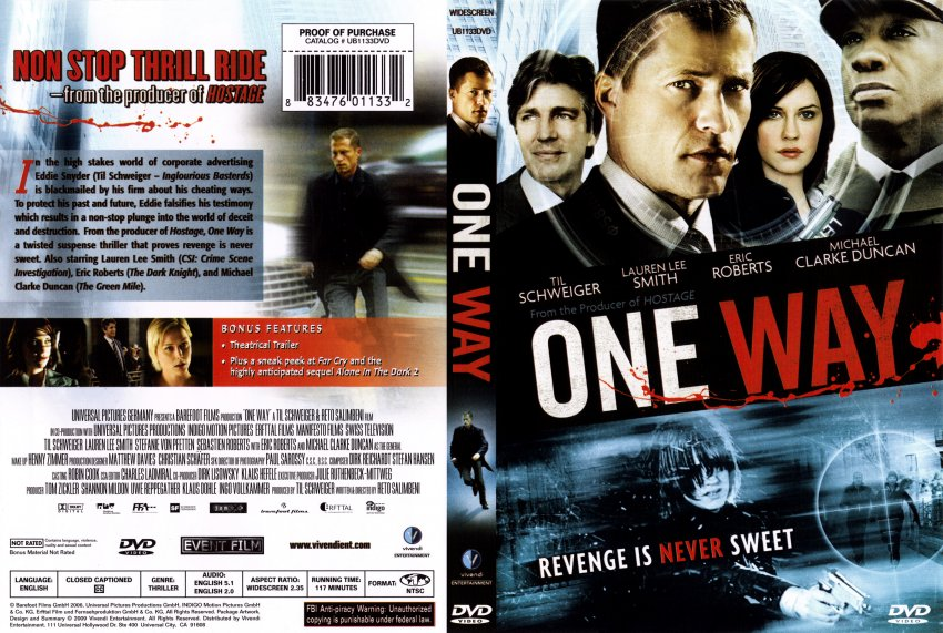 one way movie dvd scanned covers one way dvd covers. Black Bedroom Furniture Sets. Home Design Ideas