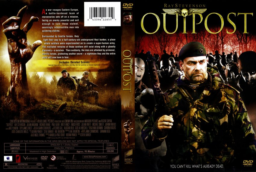 outpost movie dvd scanned covers outpost r1 dvd covers