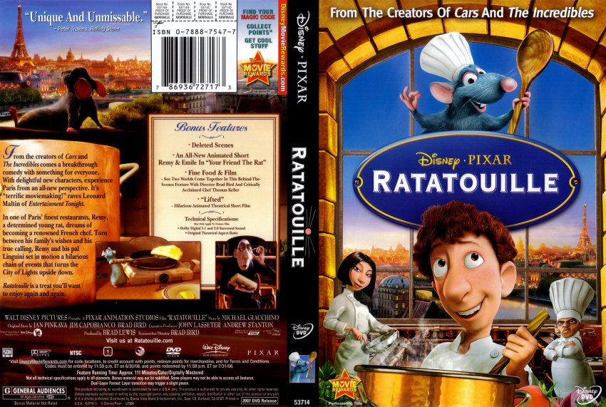 Ratatouille - Movie DVD Scanned Covers - RATATOUILLE :: DVD Covers