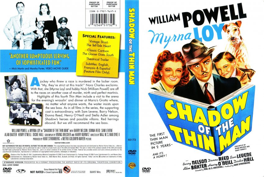 Shadow Of The Thin Man - Movie DVD Scanned Covers - Shadow Of The Thin ...