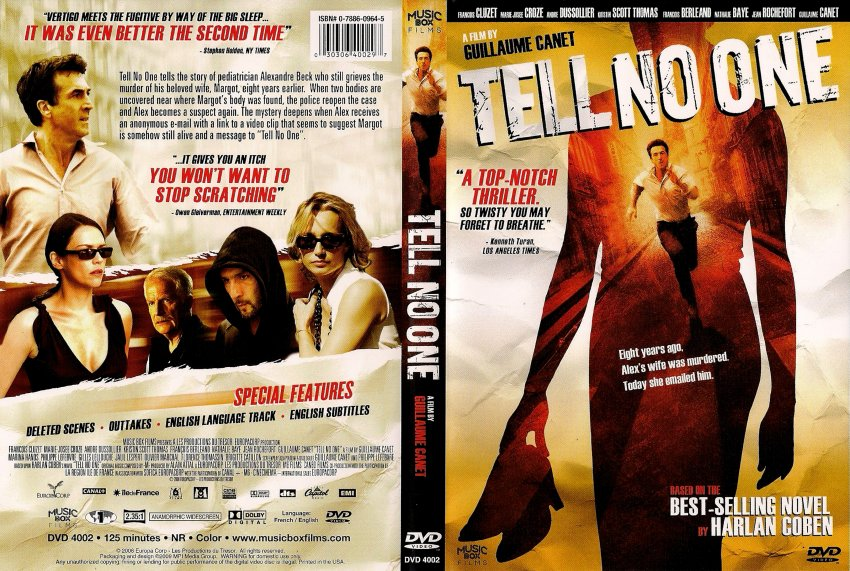 tell no one movie dvd scanned covers tell no one