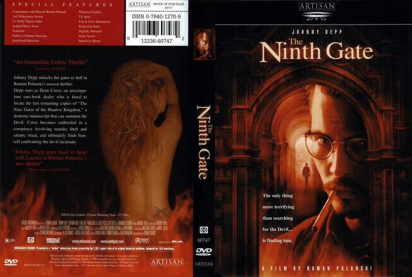 The Ninth Gate - Movie DVD Scanned Covers - The Ninth Gate ... Johnny Depp