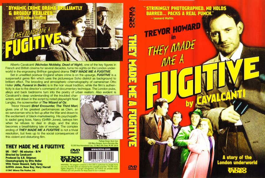 They Made Me A Fugitive - Movie DVD Scanned Covers - They Made Me ...